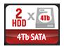 2 HDD 4Tb